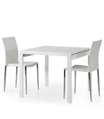 Tavolo quadrato bianco frassinato