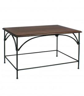 Tavolino da salotto rettangolare Country piano in legno