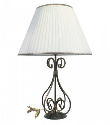 Lampada da tavolo grande in ferro battuto con Paralume