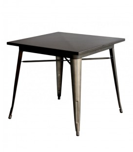 Tavolo TOLIX quadrato in acciaio zincato