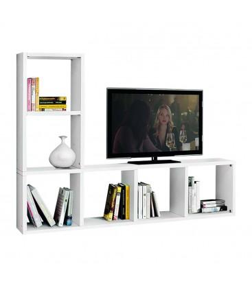 Porta TV bianco frassinato