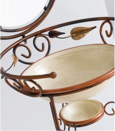 Set ceramiche porta catino 3 pz