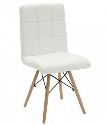 Sedia Design in Similpelle color Bianco