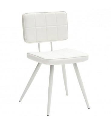 Sedia Design in Ecopelle Bianco