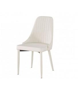 Sedia in Tessuto Schienale a Canne d'Organo color Beige