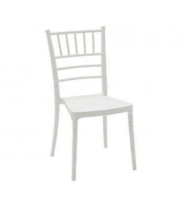 Sedia chiavarina in polipropilene moderna bianca spazio casa for Sedia bianca moderna