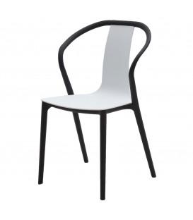 Sedia in polipropilene nero e bianco Design Moderno