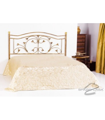 Testata letto in ferro battuto foglie for Cuscini testata letto ferro battuto