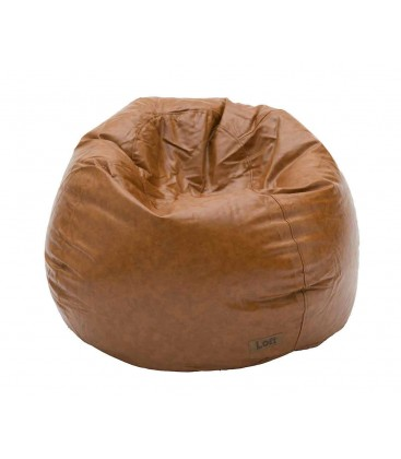 Pouf Ecopelle Marrone