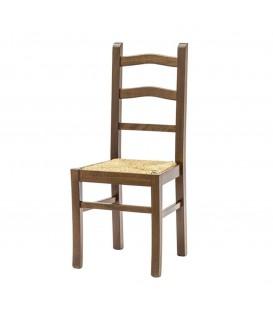 Sedia schienale alto con seduta in paglia