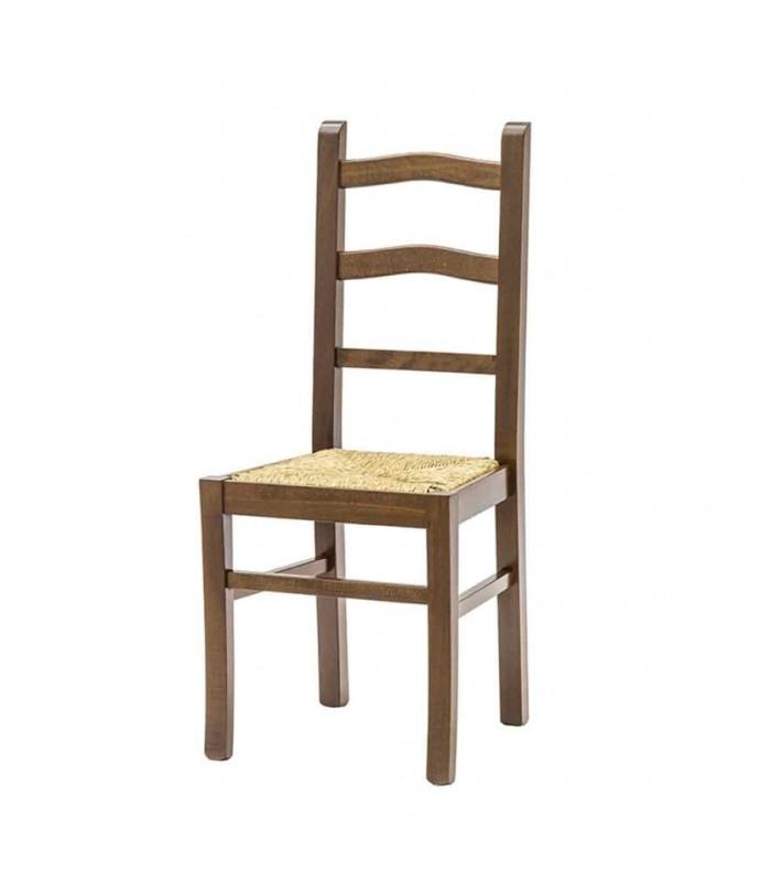 Sedia schienale alto con seduta in paglia - Spazio Casa