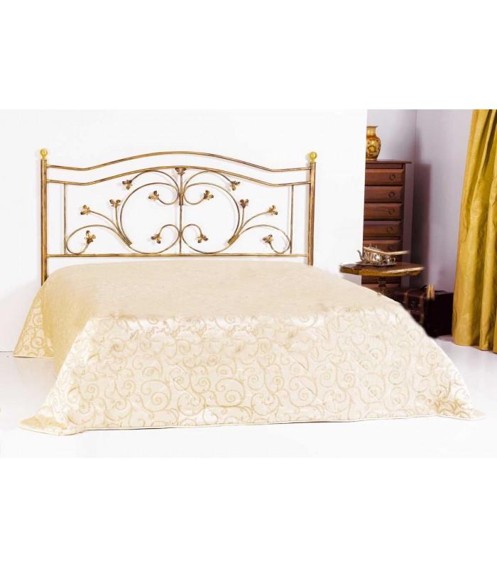 Testata letto singolo in ferro battuto foglie spazio casa - Testate letto matrimoniale ...