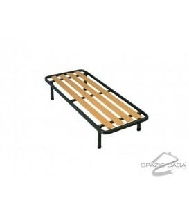 Rete letto singolo Ortopedica a tavole in legno con Profilo 6 cm