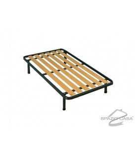 Rete 1 piazza e mezzo Ortopedica a tavole in legno con Profilo 6 cm