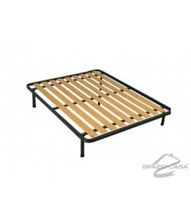 Rete matrimoniale Ortopedica a tavole in legno con Profilo 6 cm