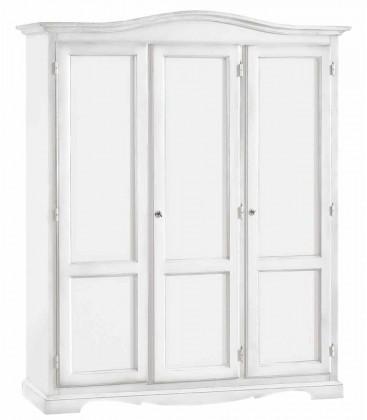 Armadio Legno 3 Porte Laccato Bianco