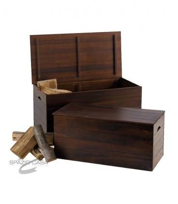 Cassapanca in legno set 2 Pz