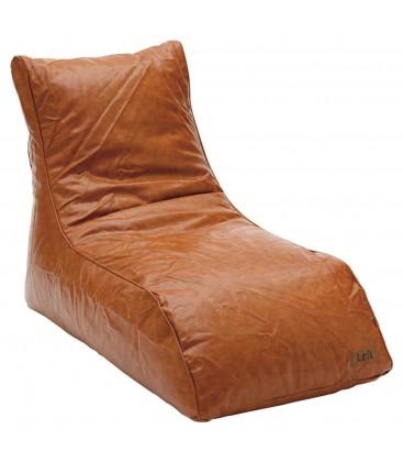 Poltrona letto Ecopelle marrone