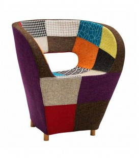 Poltroncina in tessuto patchwork