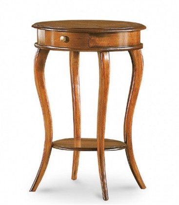 Tavolino da salotto rotondo in legno Noce