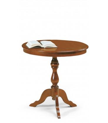 Tavolino da salotto legno tondo Noce