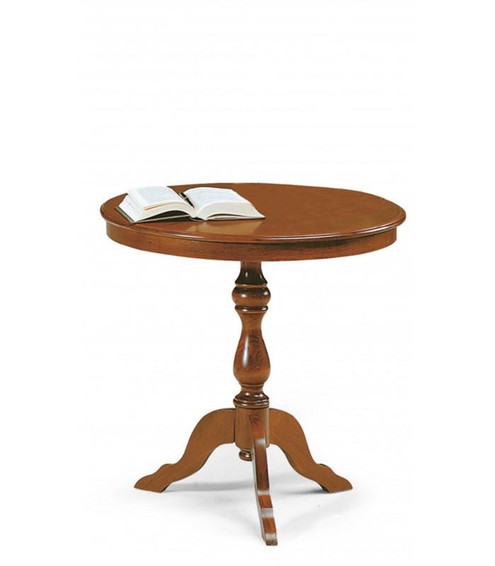 Tavolino da salotto legno tondo Noce - Spazio Casa