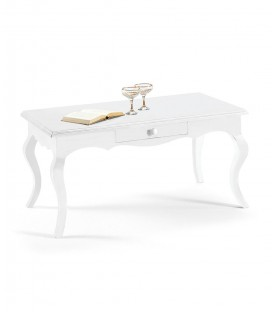 Tavolino da salotto classico Bianco opaco
