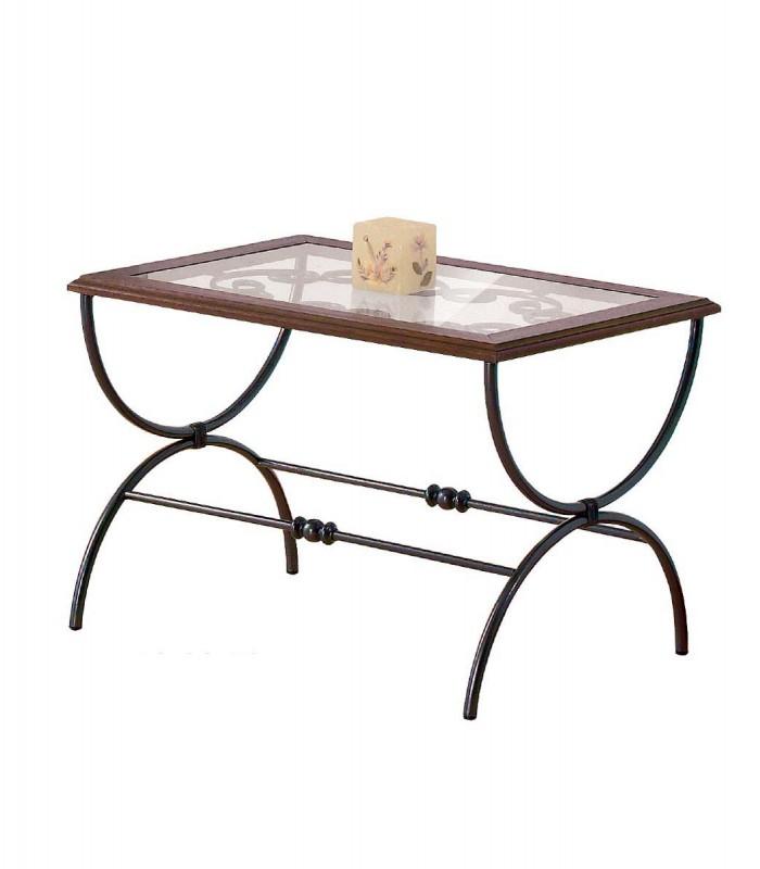 Tavolino Salotto Ferro Battuto.Tavolino Rettangolare Da Salotto In Ferro Battuto Sidney Spazio Casa