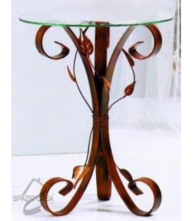 Tavolino da Salotto Tondo con Piano in Vetro