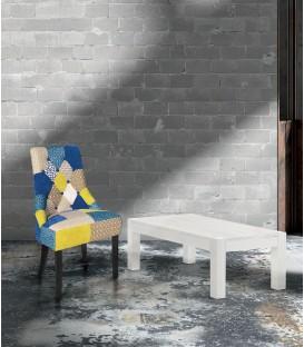 Tavolino Rettangolare da salotto in Abete Bianco Spazzolato