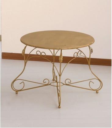 Tavolino Tondo da salotto Piano Legno Ariel