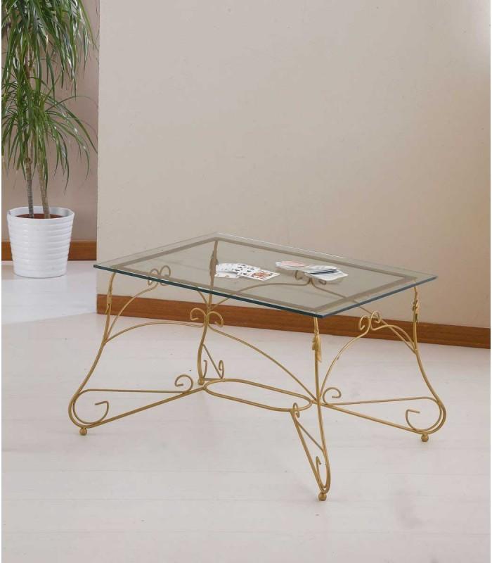 Tavolino Rettangolare da salotto Piano Vetro Ariel - Spazio Casa