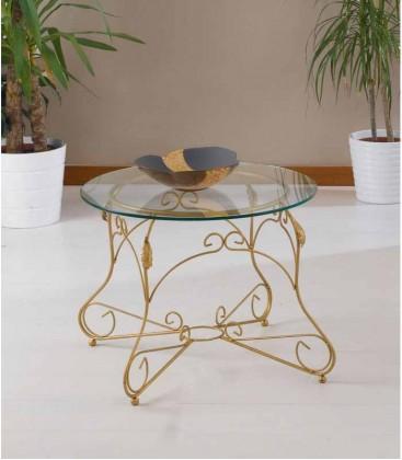 Tavolino Tondo da salotto Piano Vetro Ariel
