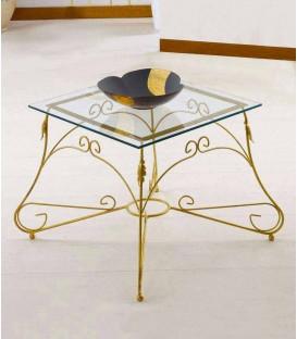 Tavolino Quadrato da salotto Piano Vetro Ariel