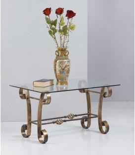 Tavolino Rettangolare da salotto in Ferro Battuto