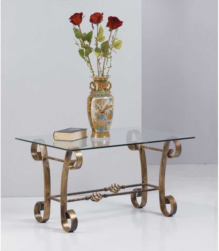 Tavolino Salotto Ferro Battuto.Tavolino Rettangolare Da Salotto In Ferro Battuto Spazio Casa