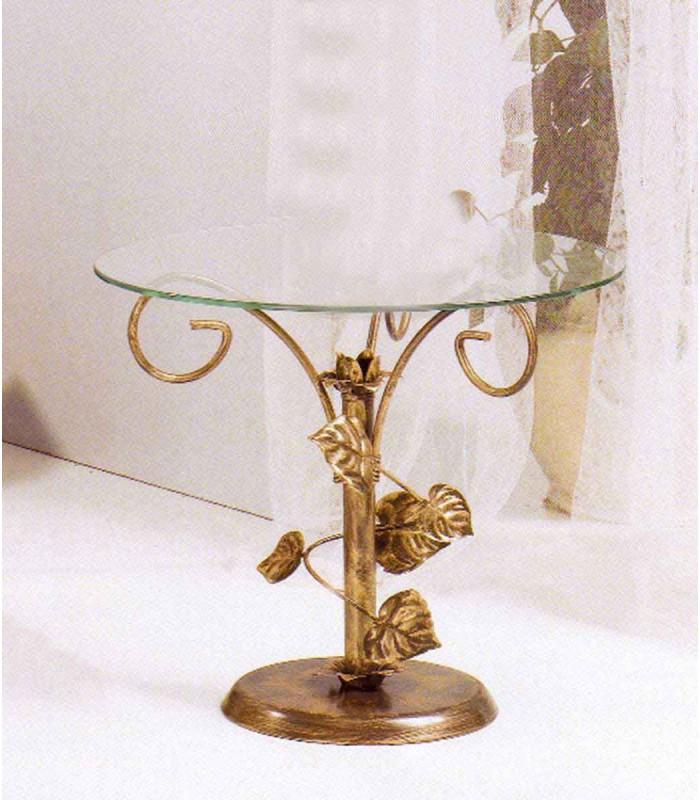 Tavolini Da Salotto Classici Foglia Oro.Tavolino Da Salotto Tondo Foglie Sery Spazio Casa