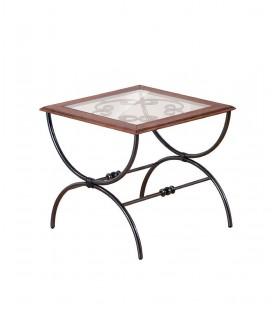 Tavolino da Salotto in Ferro Quadrato Sidney