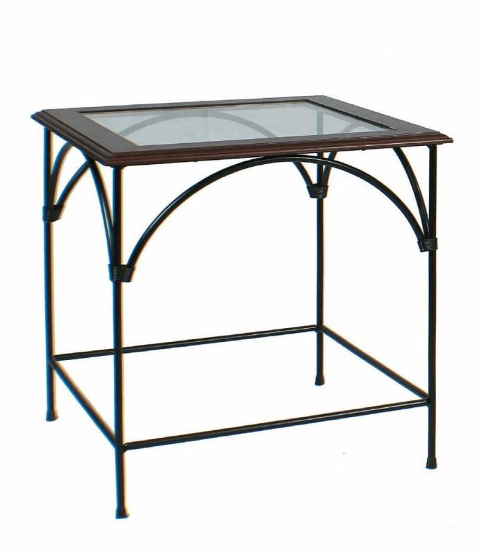 Tavolino quadrato da salotto Country piano in vetro - Spazio Casa