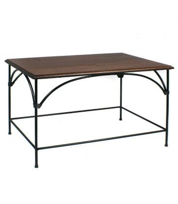 Tavolino rettangolare da salotto Country piano in legno