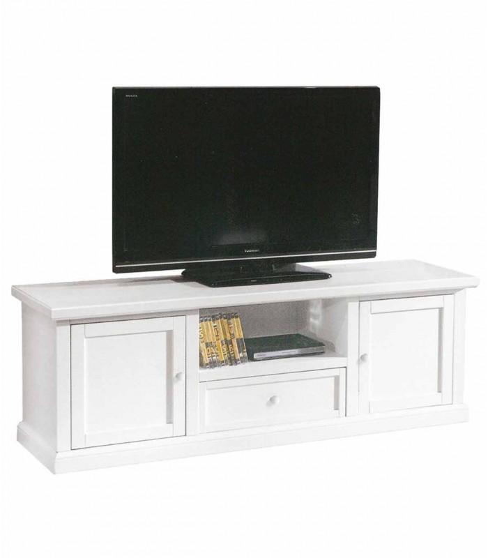 Porta Tv Classico Bianco.Porta Tv Basso Classico 2 Ante 1 Cassetto Vano Giorno Bianco