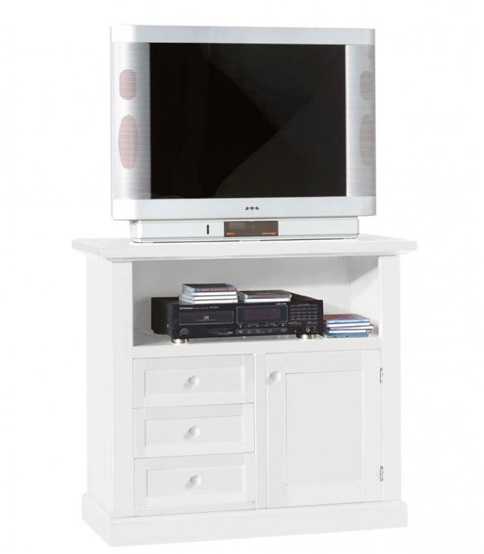 Porta TV Legno Alto Bianco