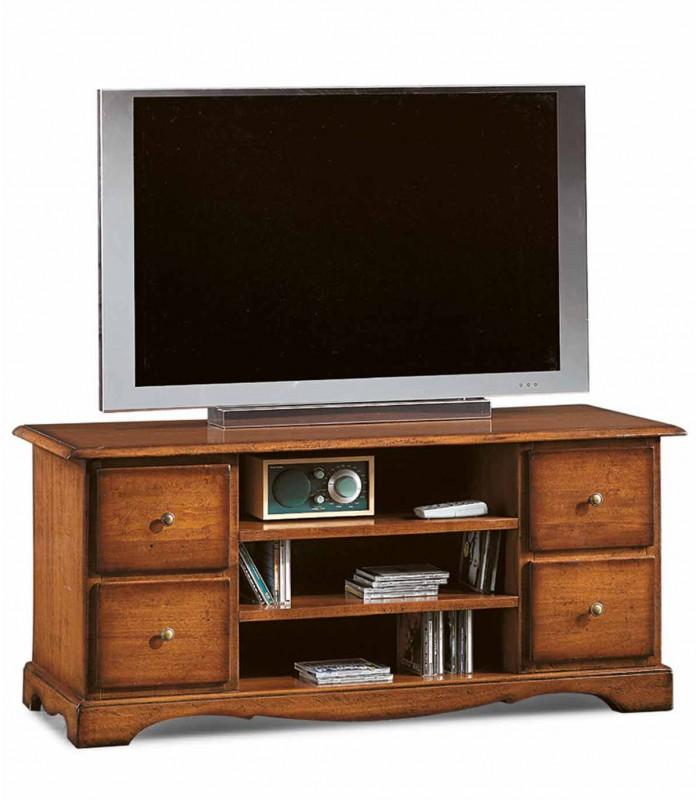 Porta Tv Classico Noce.Mobile Porta Tv Classico Con 4 Cassettini Noce