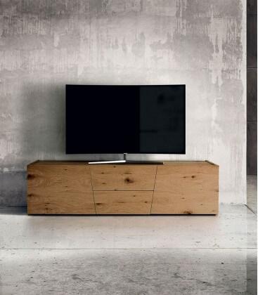 Porta TV rovere notato spazzolato