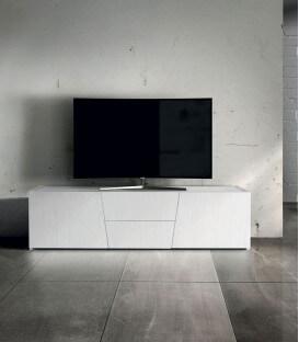 Porta TV in abete bianco spazzolato