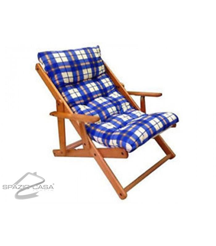 Poltrona relax in legno for Poltrone relax in legno