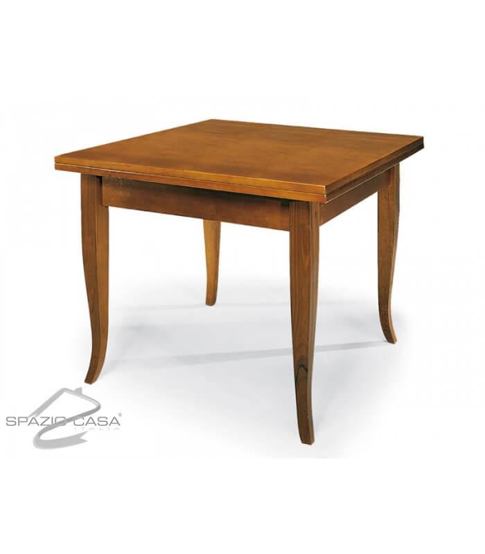 Tavolo quadrato in legno con piede a sciabola - Tavolo quadrato legno ...