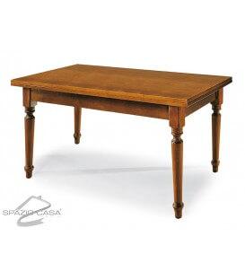 Tavolo rettangolare in legno piede tornito