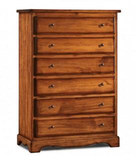 Cassettiera in legno 6 cassetti zoccolo aperto
