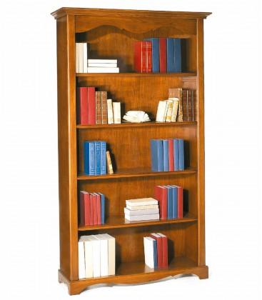 Libreria in legno classica 4 ripiani Noce